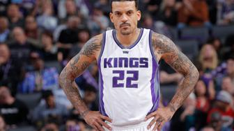 SACRAMENTO, CA - DECEMBER 20: Matt Barnes #22 of the Portland Trail Blazers looks on during the game against the Sacramento Kings on December 20, 2016 at Golden 1 Center in Sacramento, California. NOTE TO USER: User expressly acknowledges and agrees that, by downloading and or using this photograph, User is consenting to the terms and conditions of the Getty Images Agreement. Mandatory Copyright Notice: Copyright 2016 NBAE (Photo by Rocky Widner/NBAE via Getty Images)