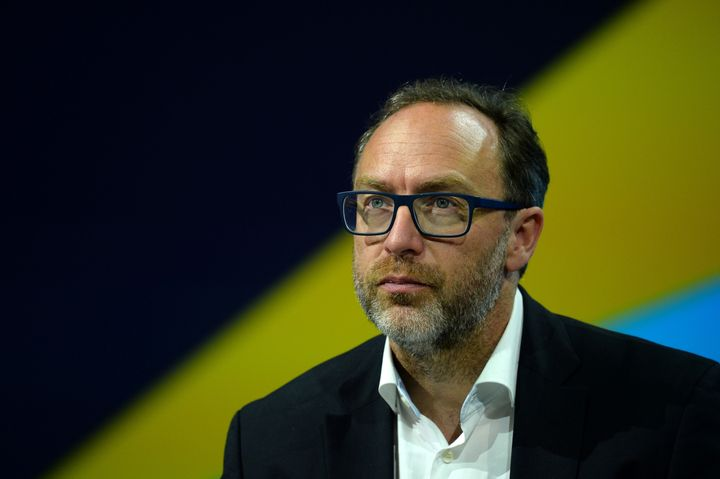 Jimmy Wales, co-founder and promoter of the online non-profit encyclopedia Wikipedia attends the Viva Technology event in Par