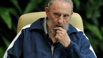 Former Cuban president Fidel Castro attends the final session of the 6th Cuban Communist Party Congress, on April 19, 2011 at the Convention Palace in Havana. AFP PHOTO/Adalberto ROQUE (Photo credit should read ADALBERTO ROQUE/AFP/Getty Images)