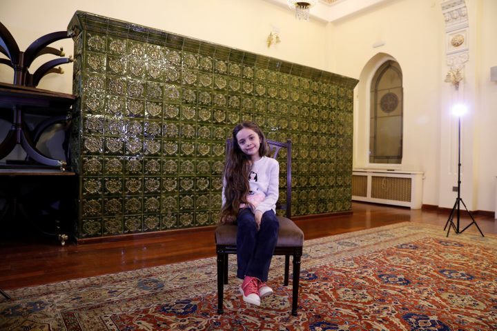 Bana Alabed, known as Aleppo's tweeting girl, poses during an interview with Reuters in Ankara, Turkey, on Dec. 22, 2016.