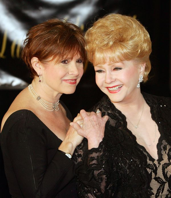 Carrie Fisher and Debbie Reynolds arrive for Elizabeth Taylor's 75th birthday at the Ritz-Carlton, Lake Las Vegas on Feb