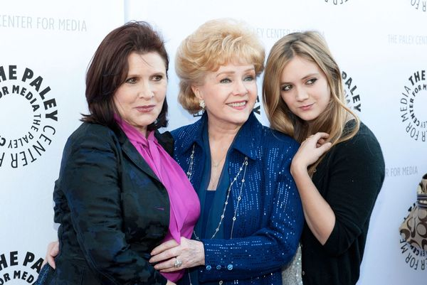 Debbie Reynolds, Carrie Fisher and Fisher's daughter, Billie Lourd, arrive at The Paley Center for Media & TCM Prese