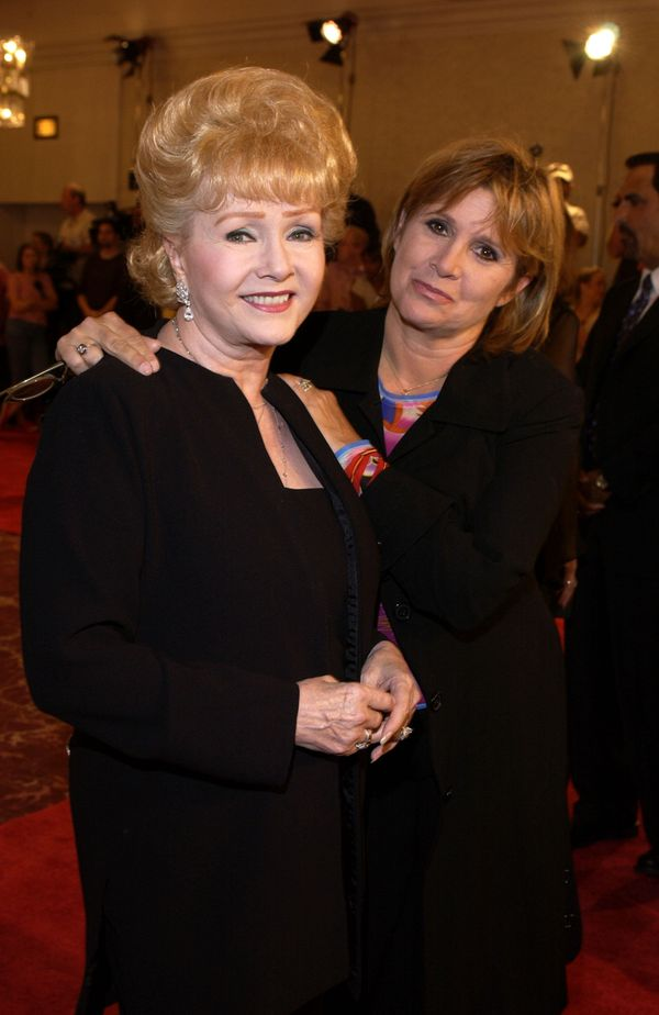 Debbie Reynolds and Carrie Fisher at the St. Jude Runway for Life Red Carpet at the Beverly Hilton Hotel in Beverly Hill