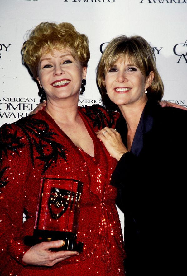 Debbie Reynolds and Carrie Fisher at the 11th Annual American Comedy Awards at the Shrine Auditorium in Los Angeles in 1