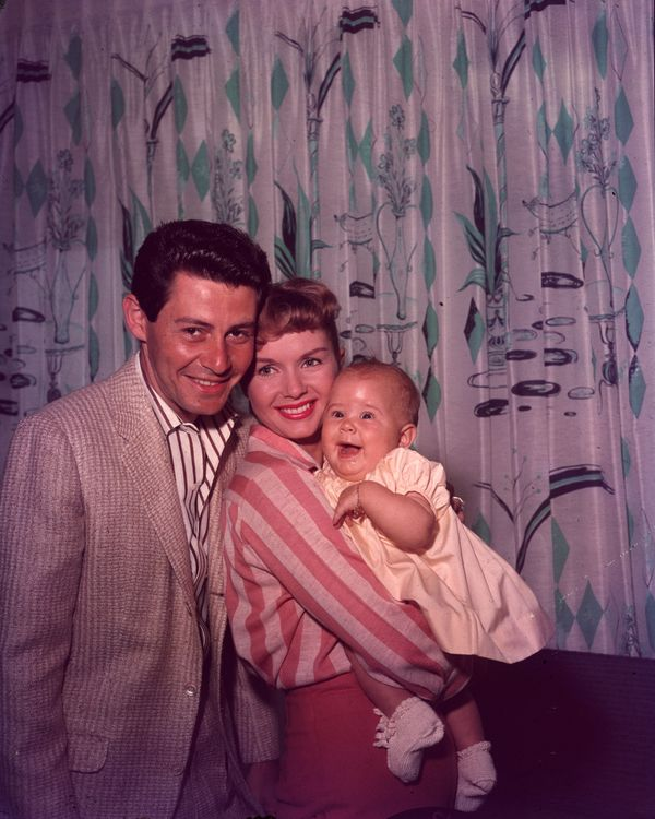 Studio portrait of the family circa 1957.