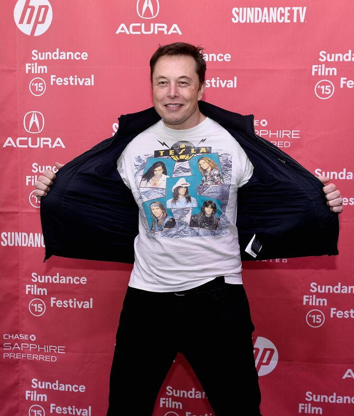 "Elon Musk, CEO & Chief Product Architect of Tesla Moters, attends the premiere of ""Racing Extinction"" during the 2015 Sun"