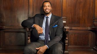 Basketball player Jason Collins poses for a portrait at the Logo TV's 'Trailblazers' at the Cathedral of St. John the Divine on June 25, 2015 in New York City. (Photo by Megan Mack/Getty Images Portrait)