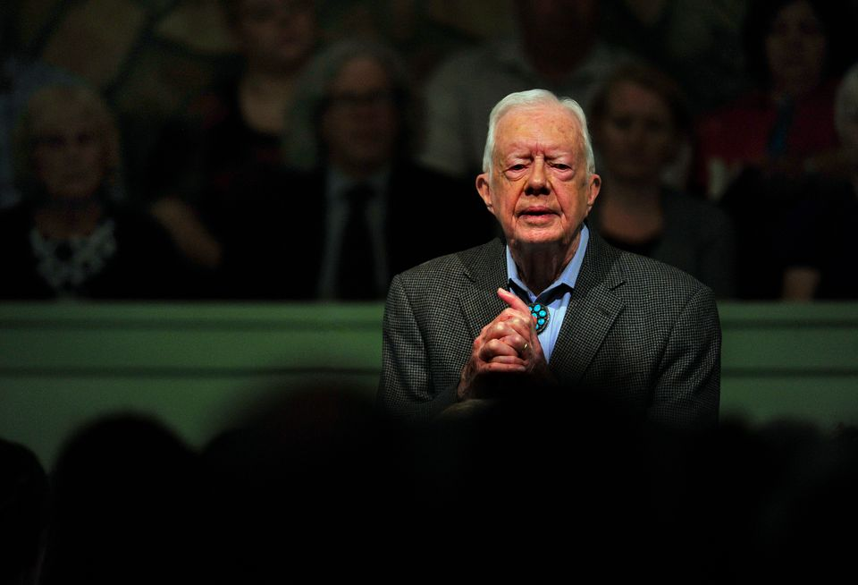 PLAINS, GA- AUG 30: President Carter teaching Sunday School at the Maranatha Baptist Church in Plains, Georgia. After recent