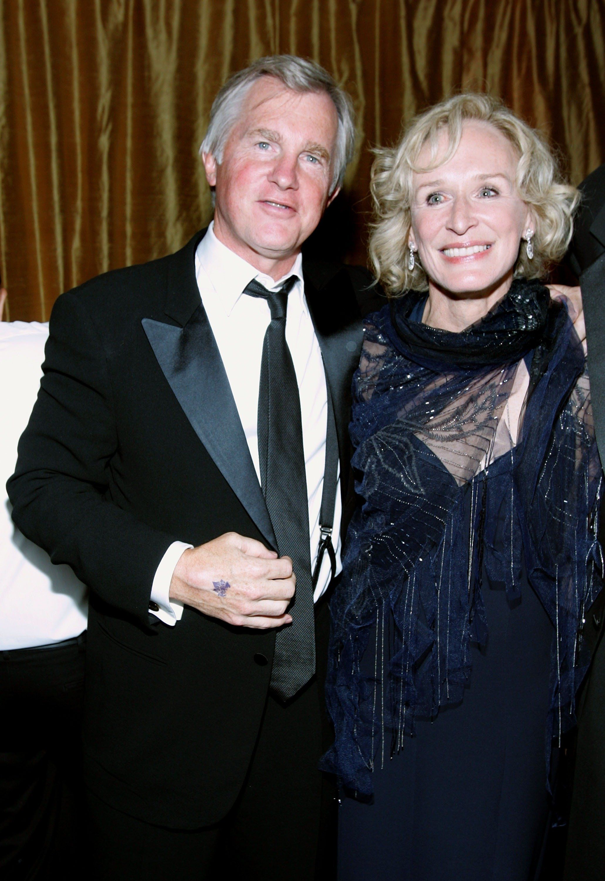 LOS ANGELES, CA - SEPTEMBER 16:  Glenn Close and husband David Shaw attend the 20th Century Fox Emmy Party on September 16, 2007 in Los Angeles, California.  (Photo by Marsaili McGrath/Getty Images)