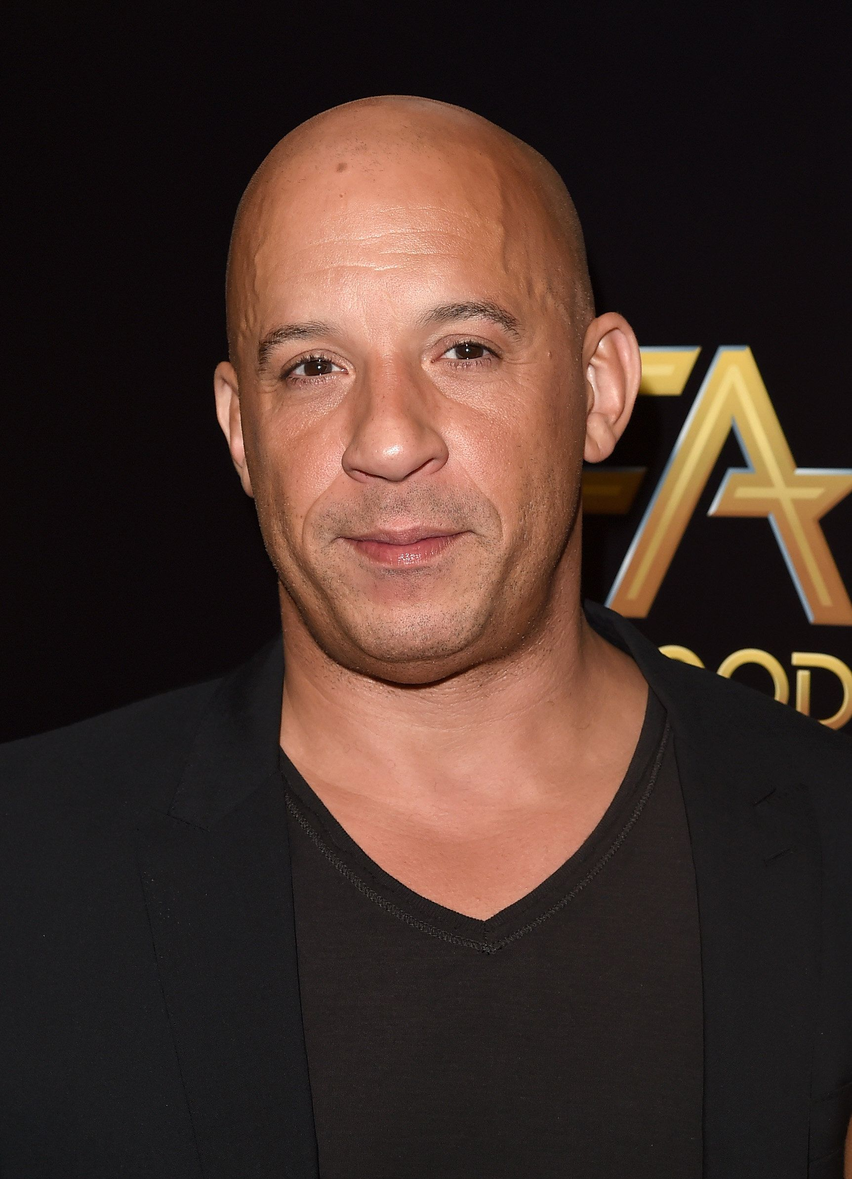 BEVERLY HILLS, CA - NOVEMBER 01:  Actor Vin Diesel poses in the press room during the 19th Annual Hollywood Film Awards at The Beverly Hilton Hotel on November 1, 2015 in Beverly Hills, California.  (Photo by Jason Merritt/Getty Images)