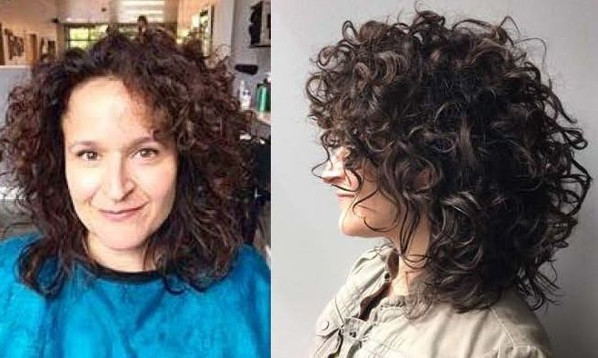 Curly With Hair for round face