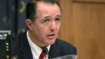 UNITED STATES - JULY 21:  Representative Trent Franks, a Republican from Arizona, questions Ron Bloom, head of the Obama administration's auto task force, during a House Judiciary subcommittee hearing on auto industry bankruptcies, in Washington, D.C., U.S., on Tuesday, July 21, 2009. U.S. House-approved legislation aimed at forcing General Motors Co. and Chrysler Group LLC to restore agreements with dealerships may jeopardize taxpayer financial returns for their stakes in the two companies, Bloom said.  (Photo by Dennis Brack/Bloomberg via Getty Images)