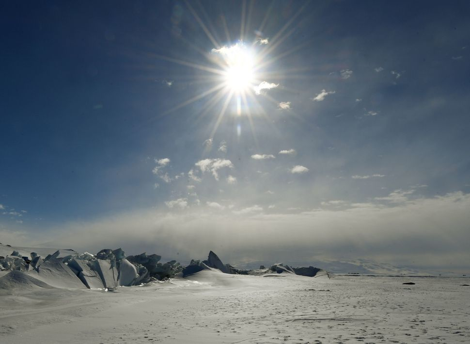 A frozen section of the Ross Sea at the Scott Base in Antarctica on Nov. 12.