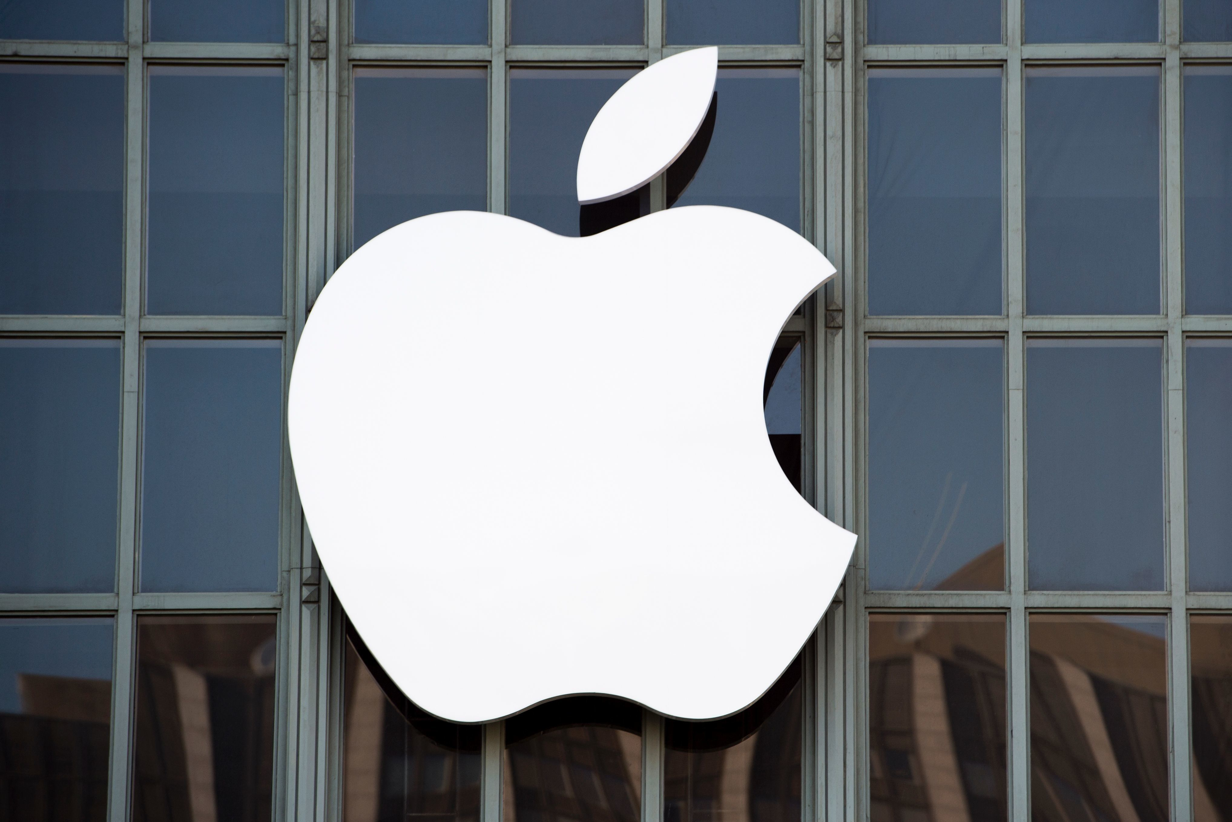 The Apple logo is seen on the outside of Bill Graham Civic Auditorium before the start of an event in San Francisco, California on September 7, 2016. Apple on Wednesday is expected to introduce a new iPhone and perhaps a second-generation smartwatch as it polishes its lineup of devices to shine during the year-end shopping season. The rumor mill has been grinding away with talk of iPhone 7 models that will boast faster chips, more sophisticated cameras, and improved software while doing away with jacks for plugging in wired headphones.  / AFP / Josh Edelson        (Photo credit should read JOSH EDELSON/AFP/Getty Images)