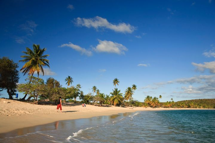 Sun Bay, on Vieques Island, where U.S. Navy bombings took place.