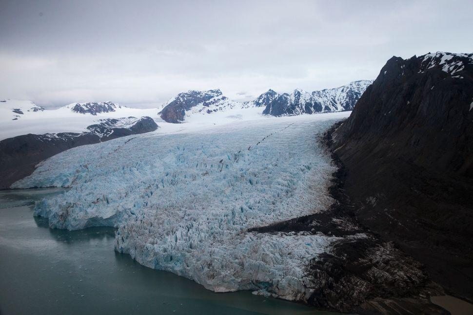 The Blomstrand glacier in Ny-Alesund, Norway, on June 16.