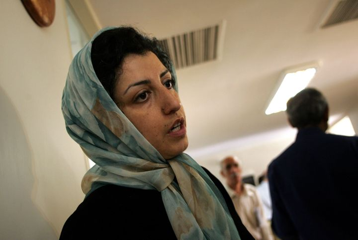 "Internationally acclaimed Iranian activist Narges Mohammadi was convicted of charges including ""anti-government publicity"" this year and sentenced to 16 years in prison."