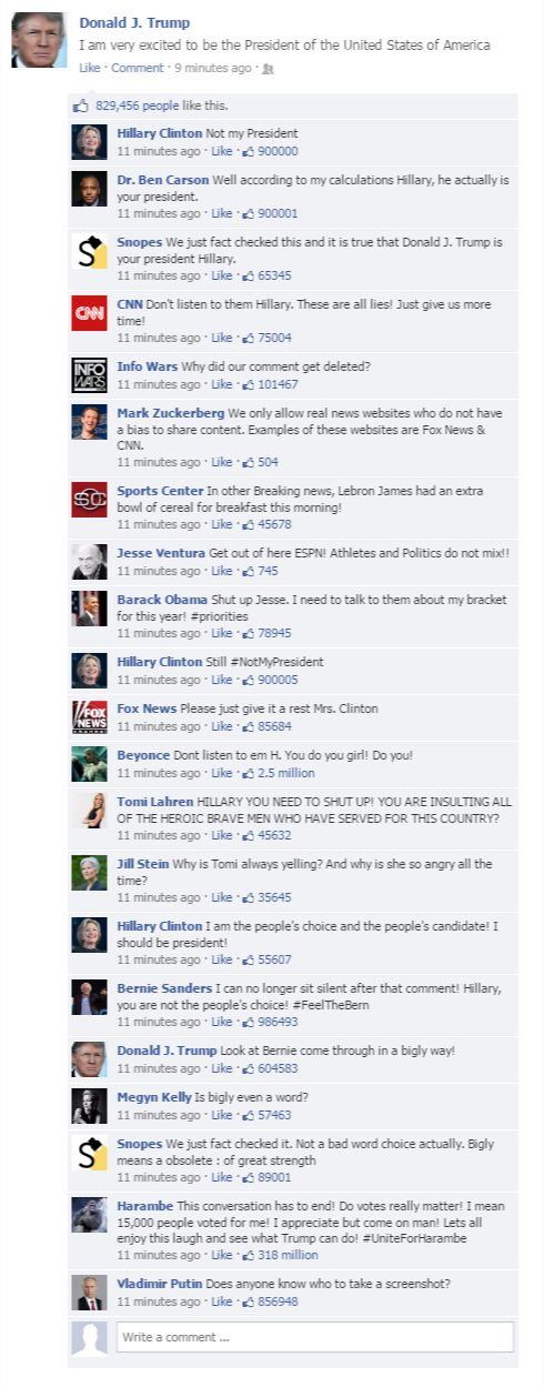 If Politicians Roasted Each Other On Facebook | The ...
