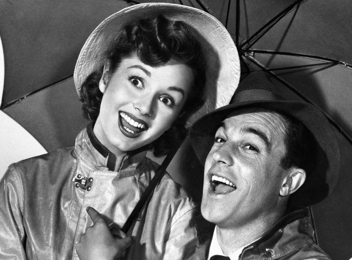Debbie Reynolds and Gene Kelly in the 1952 movie 'Singin' in the Rain.'