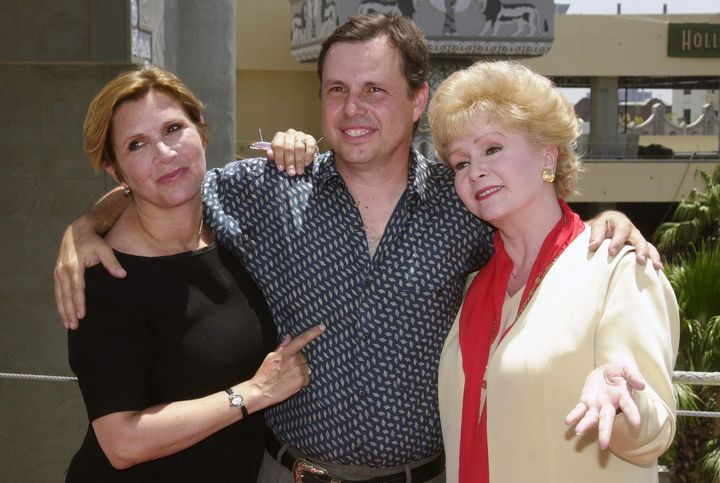 Debbie Reynolds with her children, Carrie and Todd Fisher.