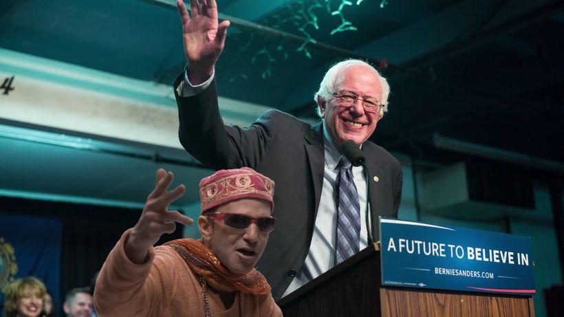 "Sen. Bernie Sanders makes a photo appearance in Shul J's ""Hanukkah HaYom."""