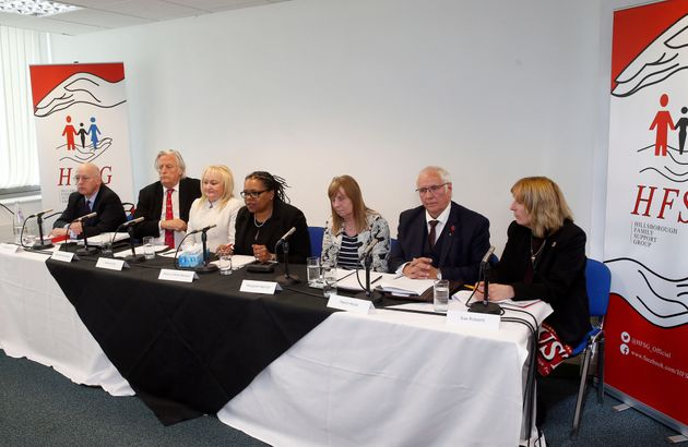 (From the left) Patrick Roche, Michael Mansfield, Jenni Hicks, Marcia Willis Stewart, Margaret Aspinall,...