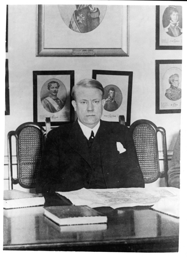 Vidkun Quisling found guilty of treason and shot in