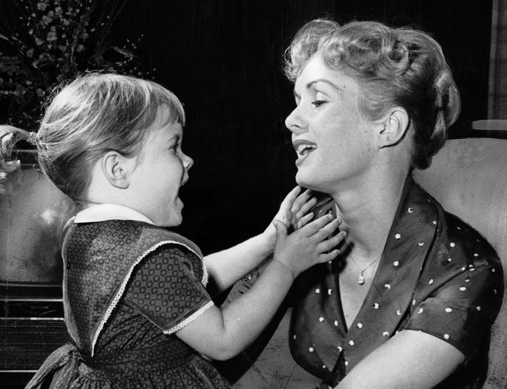 Carrie Fisher, age 3, with her mother Debbie Reynolds in their Los Angeles home on Nov. 16, 1959.