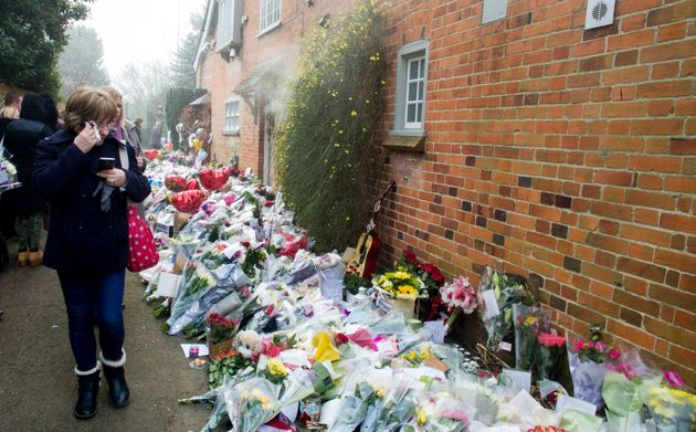 Many floral tributes have been left at George's Goring-on-Thames