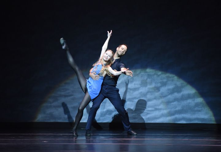 Janie Taylor and Benjamin Millepied perform at the 2016 Los Angeles Dance Project Gala on December 10, 2016.