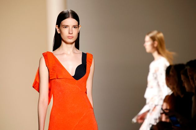 Models walk the runway at the Victoria Beckham show at New York Fashion Week in