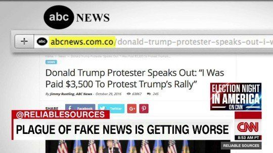 Fake news spread through social media.