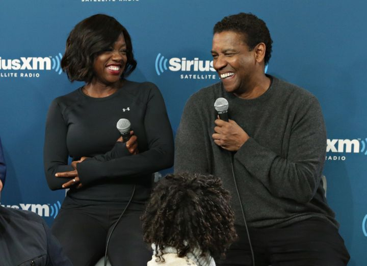 Actors Viola Davis and Denzel Washington take part in SiriusXM's Town Hall With the cast of 'Fences' hosted by Karen Hunter o