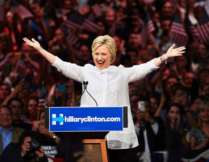 Hillary Clinton makes history as first female presidential nominee win.