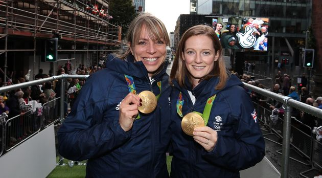 Kate Richardson-Walsh and Helen Richardson-Walsh, the first same-sex married couple to win Olympic