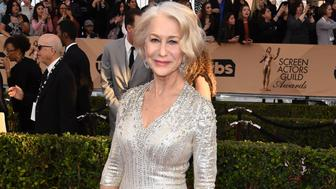 LOS ANGELES, CA - JANUARY 30:  Helen Mirren arrives at the 22nd Annual Screen Actors Guild Awards at The Shrine Auditorium on January 30, 2016 in Los Angeles, California.  (Photo by Steve Granitz/WireImage)