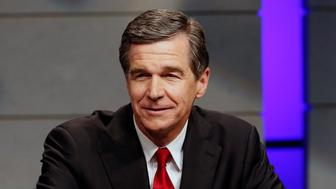 Roy Cooper, Democratic candidate for Governor of North Carolina, during a debate at WRAL studios in Raleigh, N.C., on Tuesday, Oct. 18, 2016. (Chris Seward/Charlotte Observer/TNS via Getty Images)