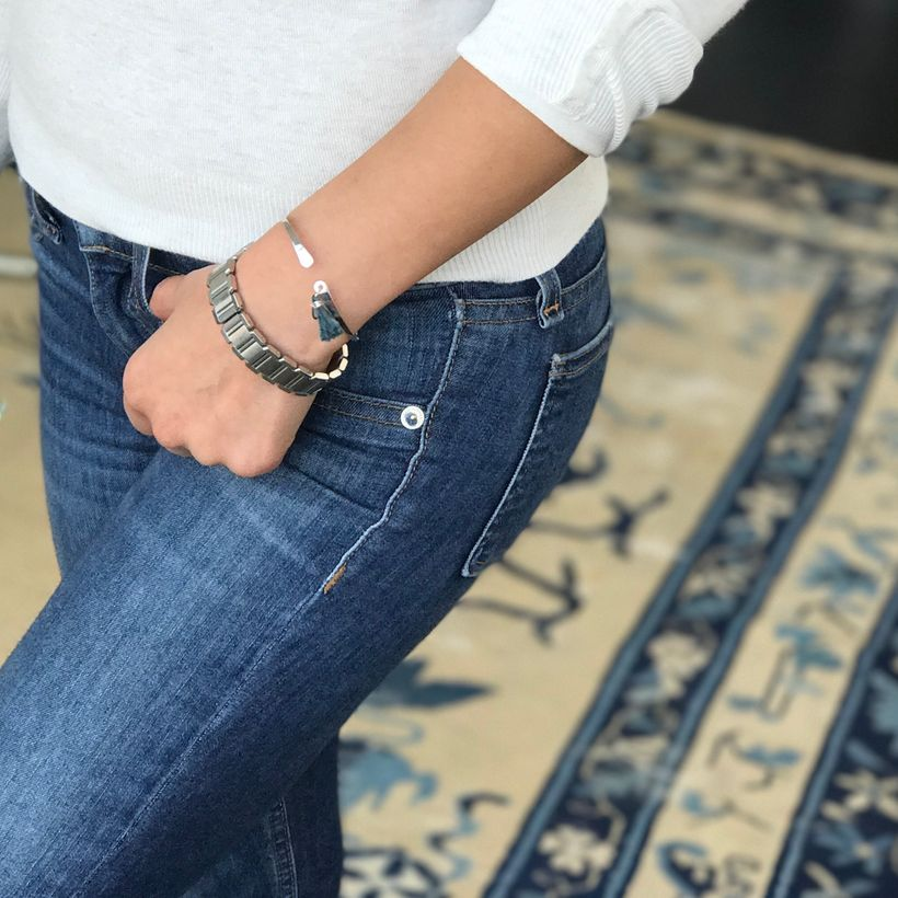 "It's always cuffing season: sporting my <a rel=""nofollow"" href=""http://thebravecollection.com/products/tassel-cuffs"" target="""