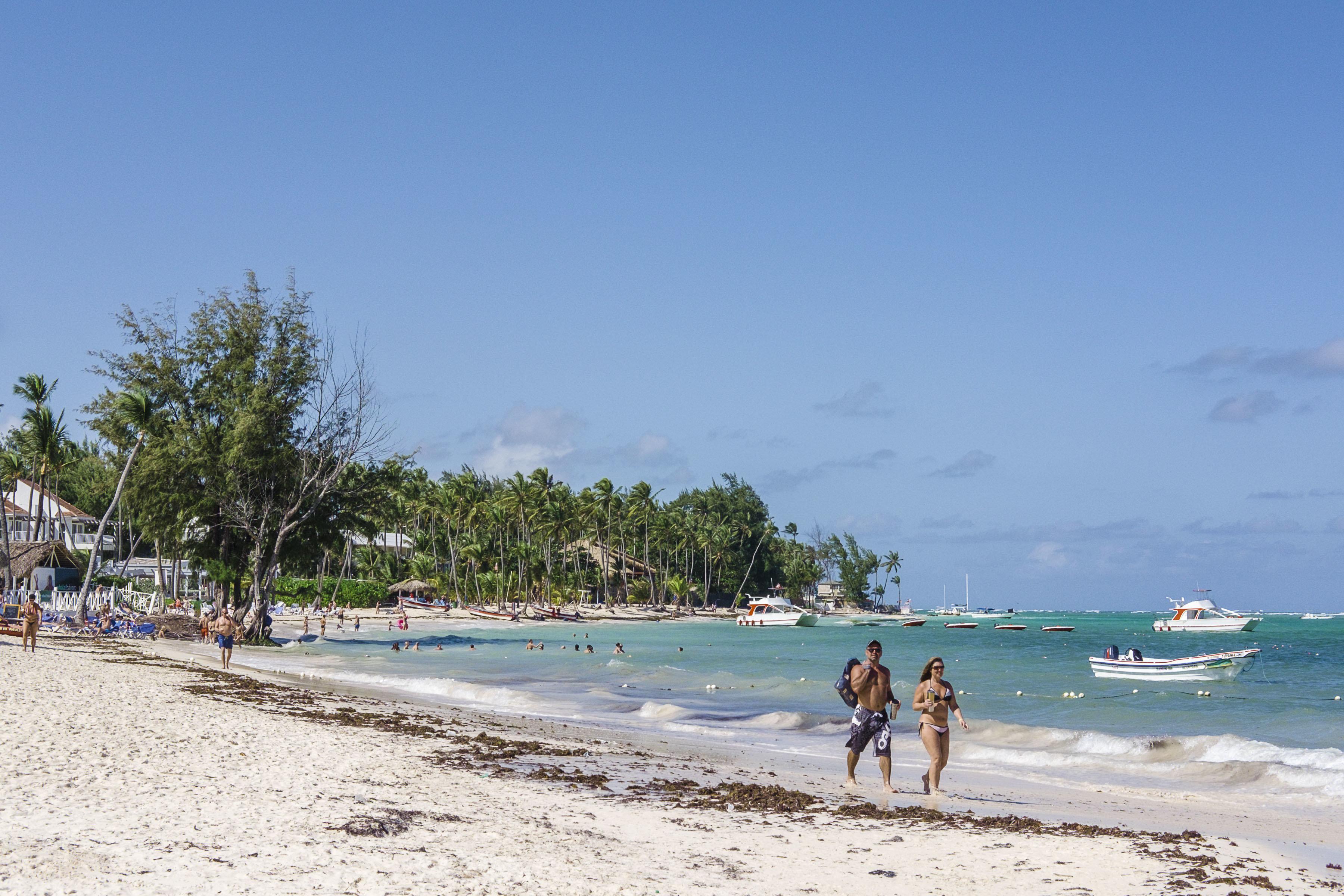 PUNTA CANA, DOMINICAN REPUBLIC - DECEMBER 30:  General view of Bavaro Beach, El Cortecito on December 30, 2016 in Punta Cana Dominican Republic. (Photo by Santiago Vidal/LatinContent/Getty Images)