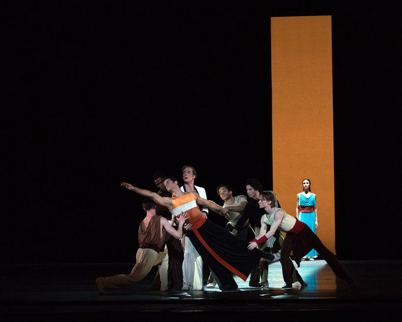 American Ballet Theatre in Alexei Ratmansky's <em>Serenade after Plato's Symposium</em>.