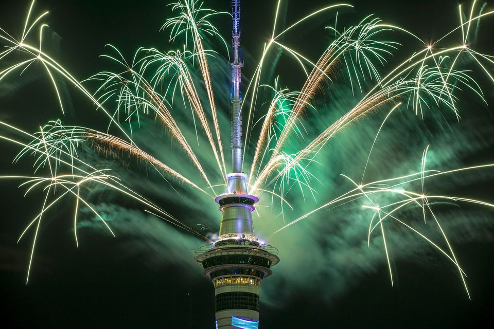 New Zealanders became the first to welcome 2017 on Saturday in great