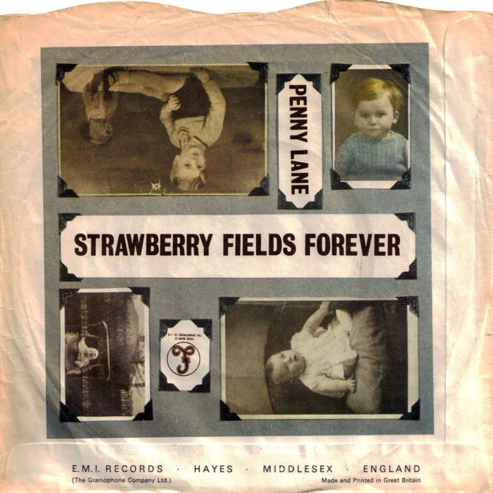 """Strawberry Fields Forever""/""Penny Lane"" record sleeve"
