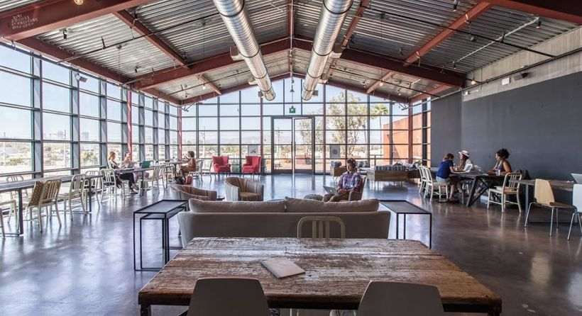 Entrepreneurial women and the occasional man get work done at One Roof Women's pop-up location in Culver City