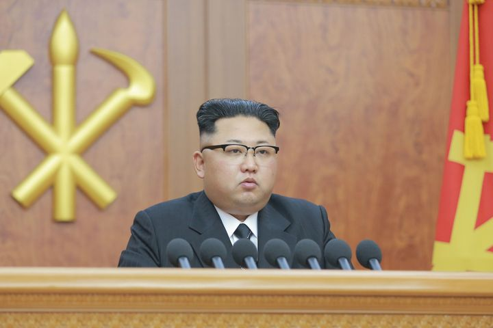 Kim Jong Un delivered a New Year's address in Pyongyang, North Korea, on Sunday, during which he said the country was in the