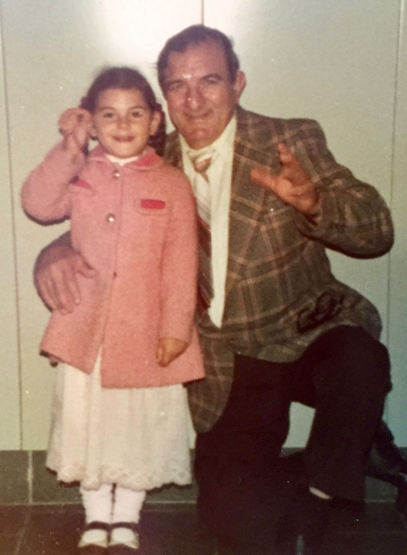 The author and her grandfather, Louis Magnani, circa 1976, presumably in Massachusetts.