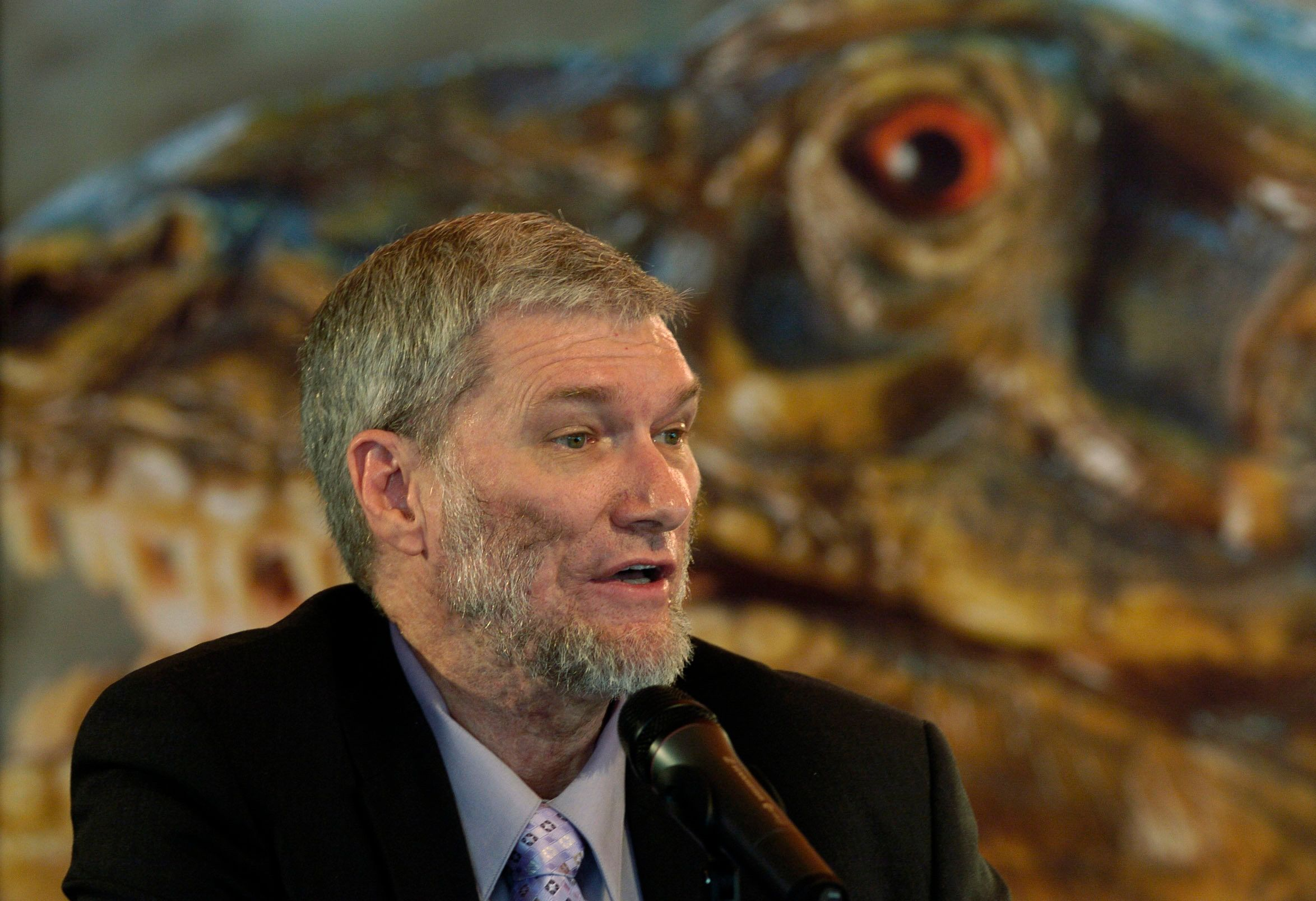 Creationist Ken Ham believes some dinosaurs sailed on Noah's Ark to survive the flood depicted in the Bible.