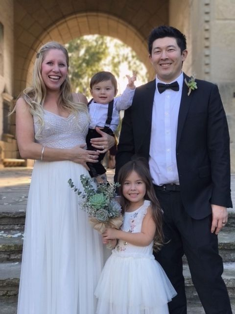 Caitlin and Bryson on their wedding date 12/29/2016