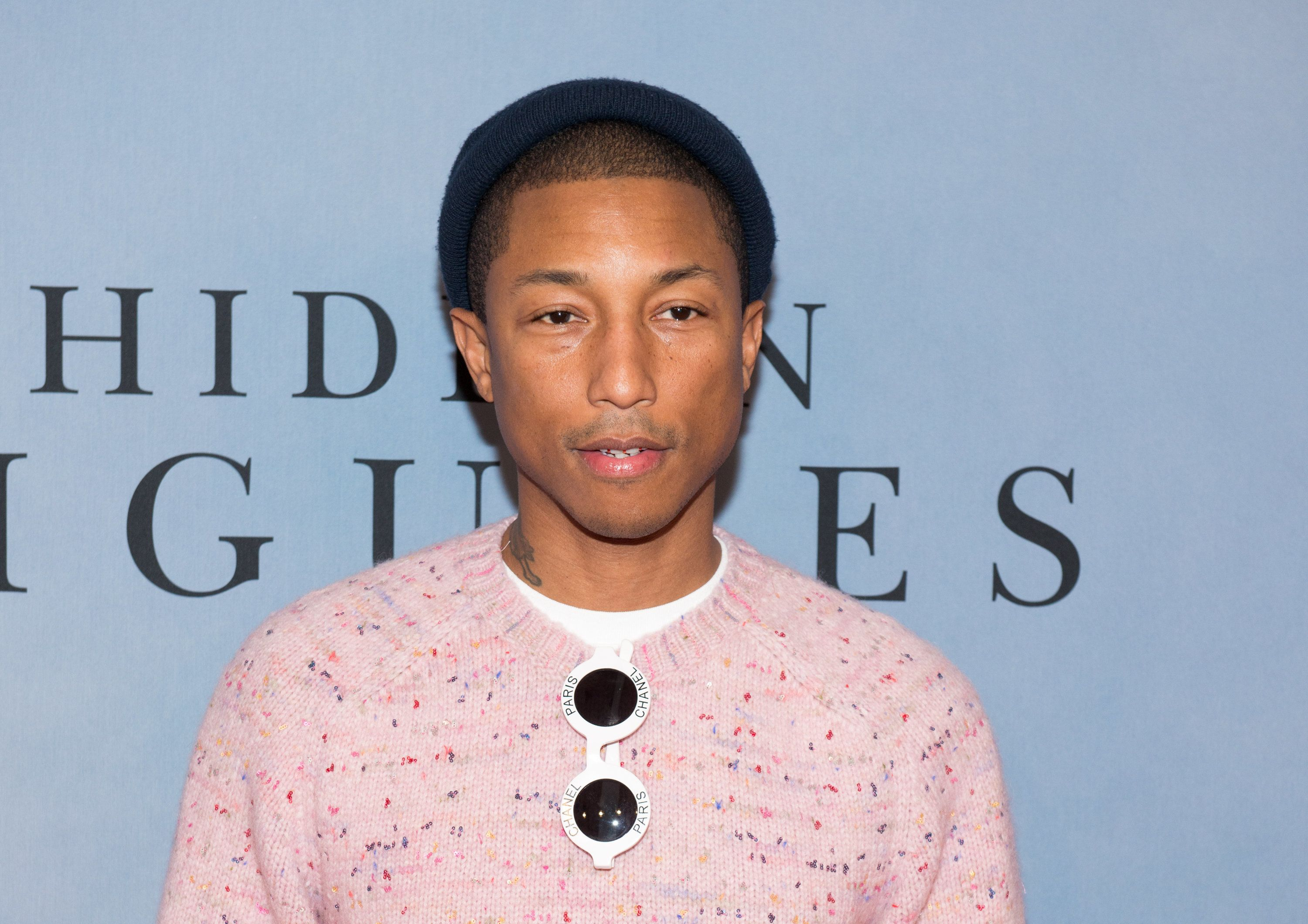 NEW YORK, NY - DECEMBER 10:  Singer Pharrell Williams attends the 'Hidden Figures' New York special screening on December 10, 2016 in New York City.  (Photo by Noam Galai/WireImage)