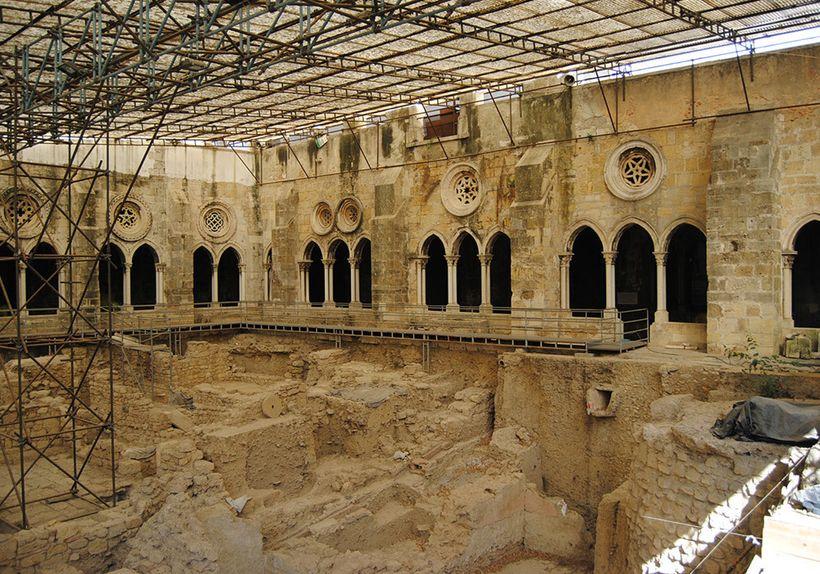 The excavations at the cloister of Sé de Lisboa