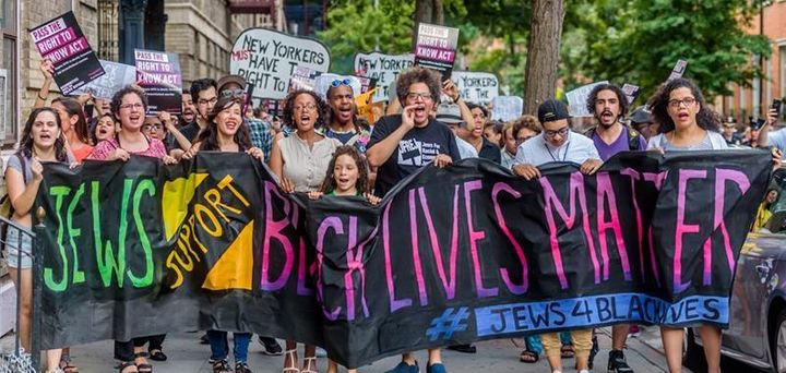 #BlackLivesMatter protest by Jews for Racial and Economic Justice (JFREJ)